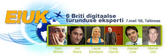 E!UK - 6 Briti digitaalse turunduse eksperti 7. mail Tallinnas